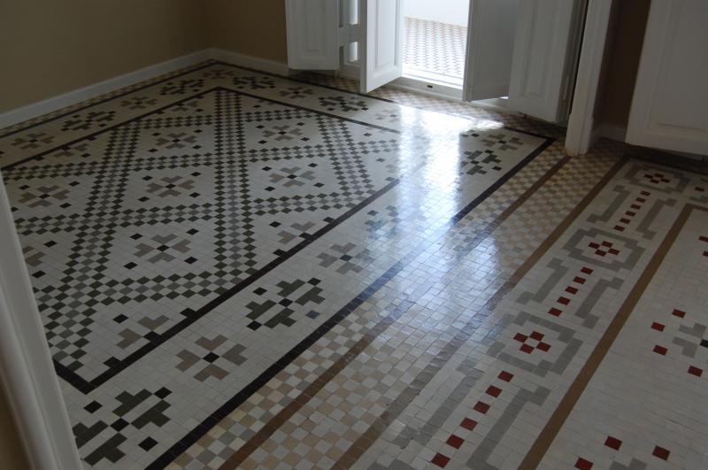 Pulir suelo de mosaico hidr ulico - Mosaicos para suelos ...